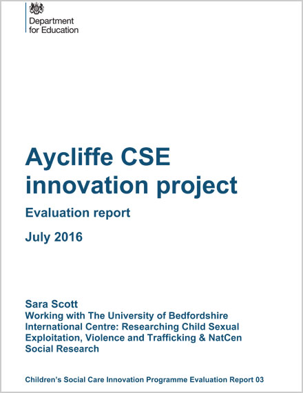 Aycliffe CSE innovation project Evaluation report