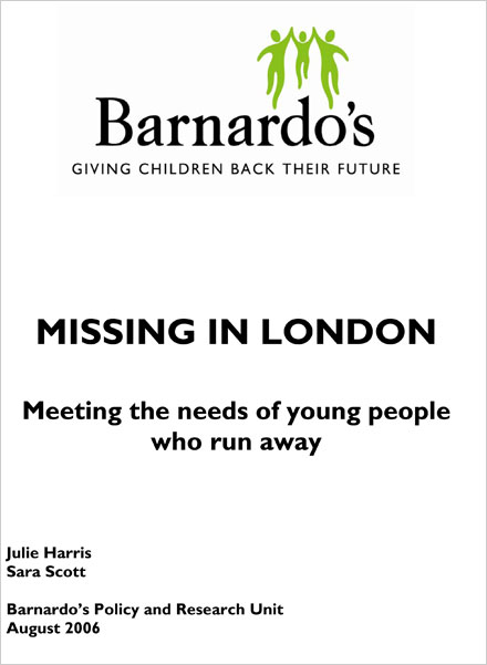 Missing in London: Meeting the needs of young people who run away