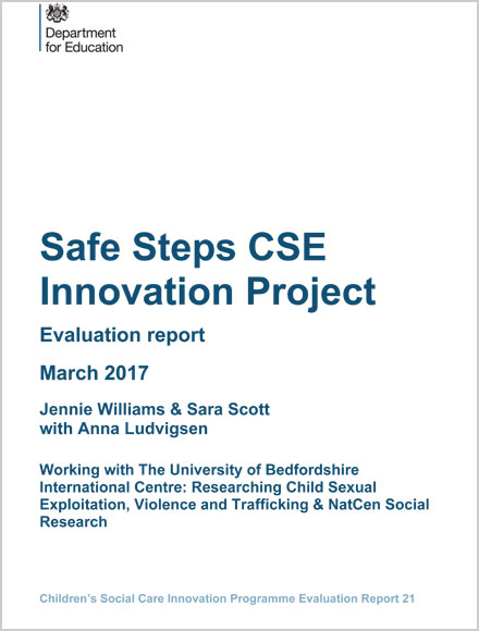 Safe Steps CSE Innovation Project Evaluation report