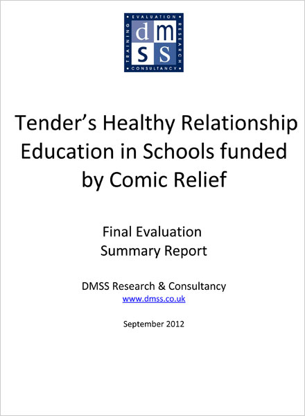Evaluation of Tender's Healthy Relationship Education in Schools Final Report