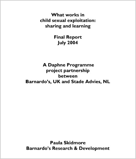 What works in child sexual exploitation: sharing and learning in UK and the Netherlands