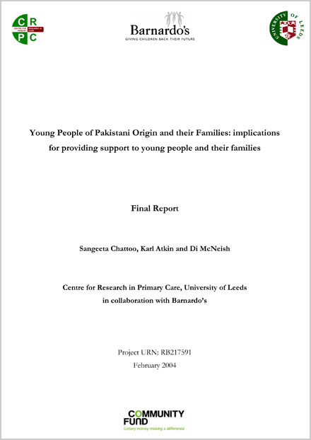 Young People of Pakistani Origin and their Families: implications for providing support to young people and their families